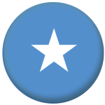 Somalia Country Flag 58mm Button Badge